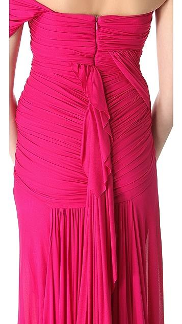 Donna Karan New York Corset Fringe Gown