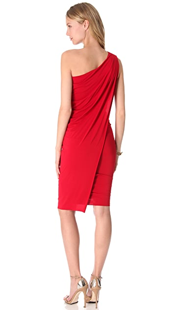 Donna Karan New York One Shoulder Cocktail Dress