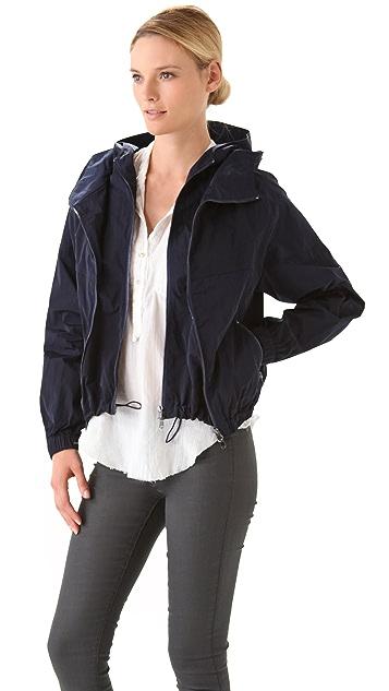 Donna Karan New York Double Zip Hooded Jacket