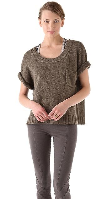 Donna Karan New York Elbow Sleeve T-Shirt