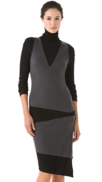 Donna Karan New York Two Tone Turtleneck