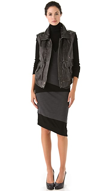 Donna Karan New York Two Tone Skirt