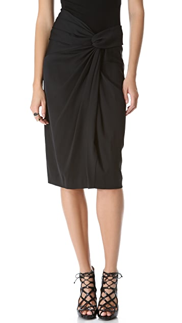 Donna Karan New York Sarong Knot Draped Skirt