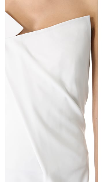 Donna Karan New York Geometric Fold Strapless Gown