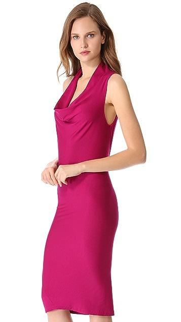 Donna Karan New York Draped Cowl Tunic Dress