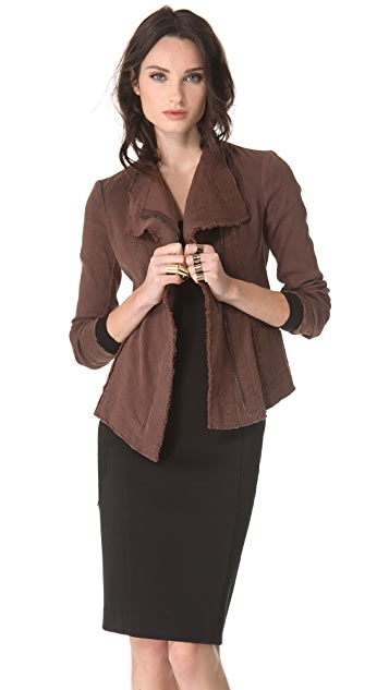 Donna Karan New York Jacket with Asymmetrical Zip