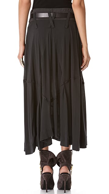 Donna Karan New York Full Skirt with Jersey Waistband