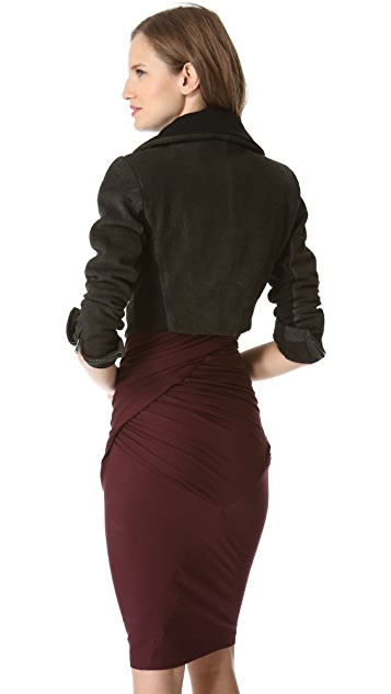 Donna Karan New York Jersey Lined Zip Bolero