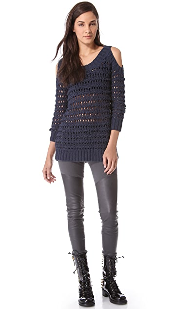 Donna Karan New York Cold Shoulder Sweater
