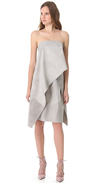 Donna Karan New York Strapless Origami Dress