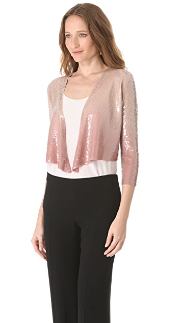 Donna Karan New York Sequined Cashmere Jacket