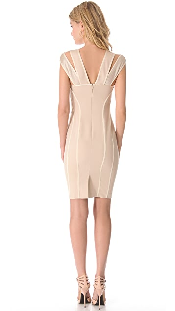 Donna Karan New York Cold Shoulder Dress