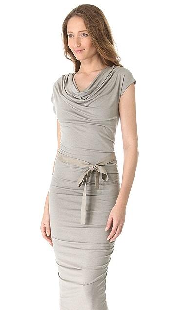 Donna Karan New York Draped Cowl Dress