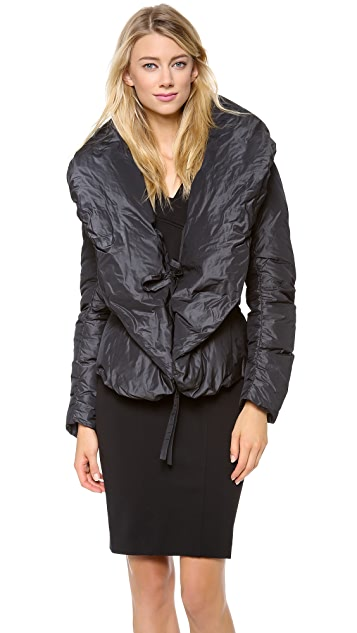 Donna Karan New York Shawl Collar Down Jacket