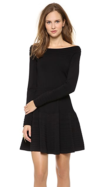 Donna Karan New York Long Sleeve Off Shoulder Top