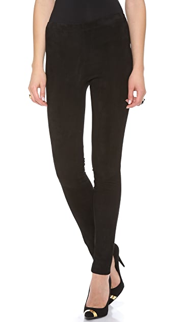 Donna Karan New York Suede Trim Pants