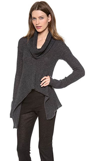 Donna Karan New York Drape Collar Sweater