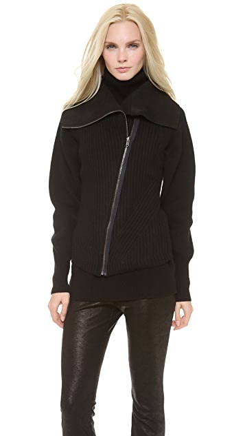 Donna Karan New York Reversible Zip Front Vest