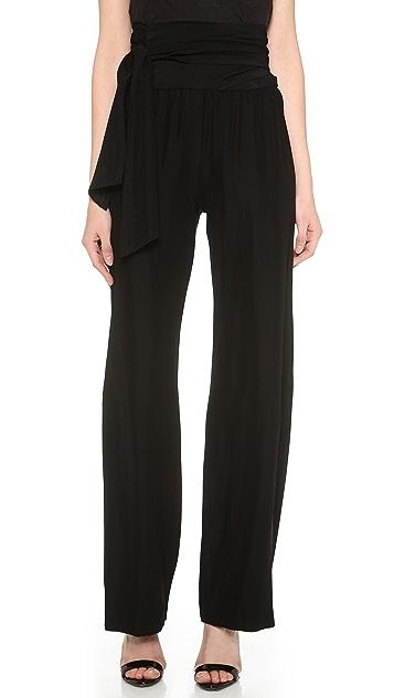 Donna Karan New York Fluid Pants with Sash