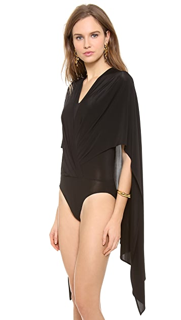 Donna Karan New York Sleeveless V Cape Bodysuit