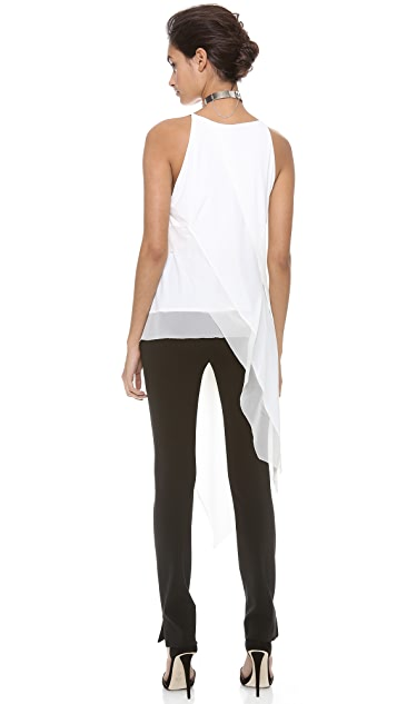 Donna Karan New York Sleeveless Asymmetric Top