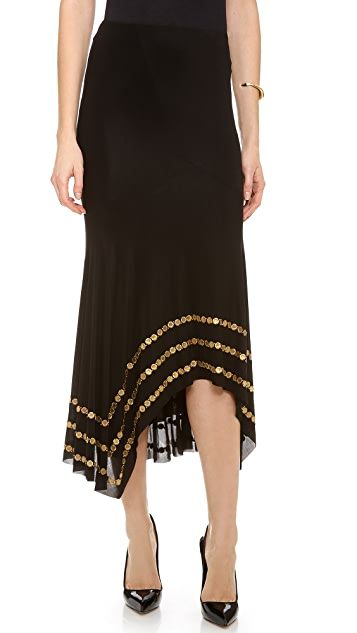 Donna Karan New York Coin Embellished Slip Skirt