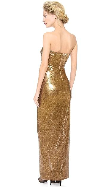 Donna Karan New York Strapless Twist Evening Dress