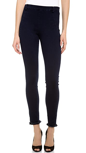 Donna Karan New York Second Skin Jeans with Frayed Hem