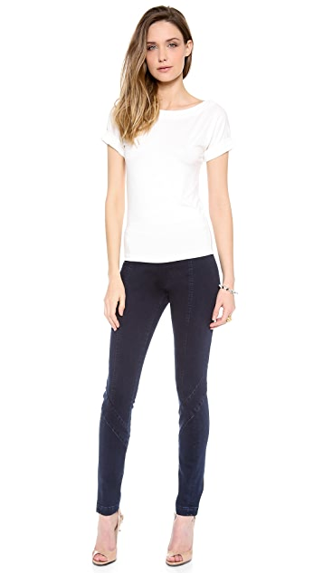 Donna Karan New York Second Skin Seamed Jeans