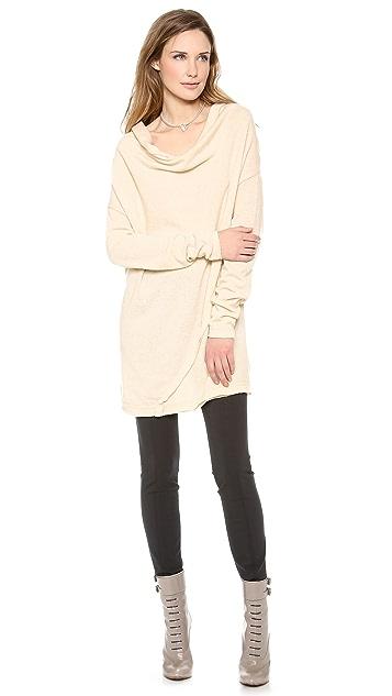 Donna Karan New York Asymmetric Drape Tunic