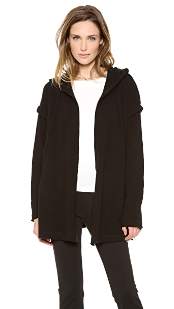 Donna Karan New York Hooded Draped Cardigan