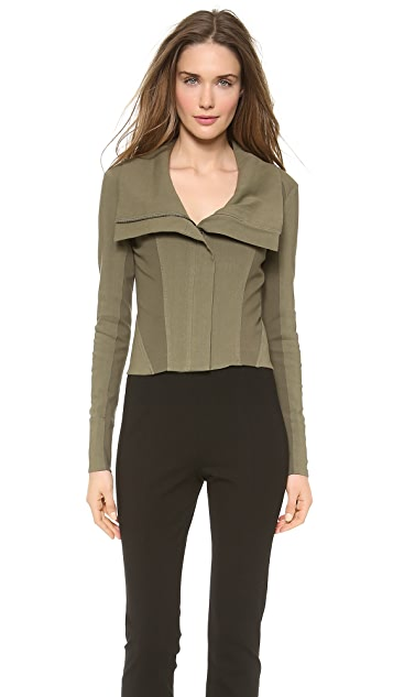 Donna Karan New York Wide Neck Zip Jacket