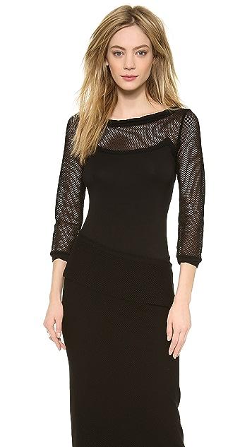 Donna Karan New York 3/4 Sleeve Top