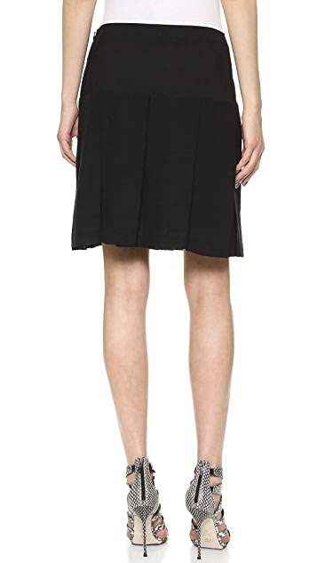 Donna Karan New York Above the Knee Pleated Skirt