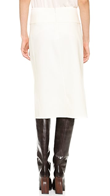 Donna Karan New York Exposed Zip Pencil Skirt