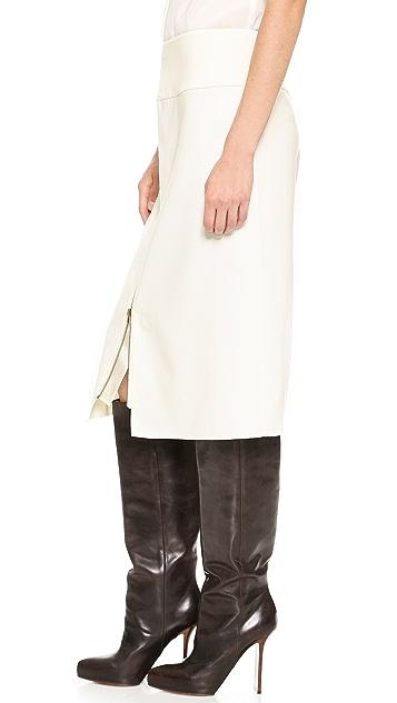 Donna Karan New York Exposed Zip Pencil Skirt