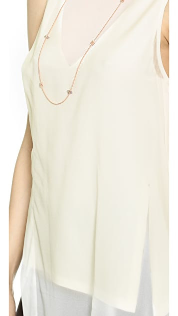 Donna Karan New York Sleeveless V Neck Top