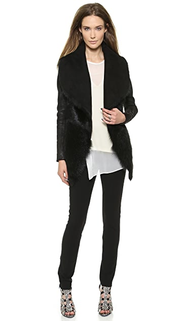 Donna Karan New York Slim Jacket with Suede Inserts