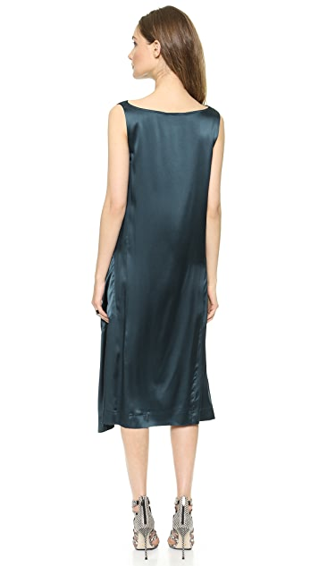 Donna Karan New York Sleeveless Dress with Elastic Detail