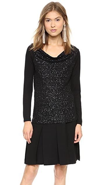 Donna Karan New York Off the Shoulder Cashmere Sweater