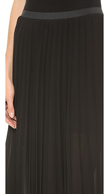 Donna Karan New York Pull On Sunray Pleated Skirt