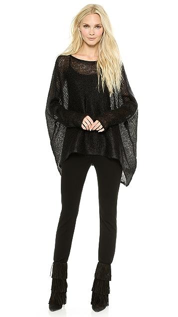 Donna Karan New York Long Sleeve Poncho Top