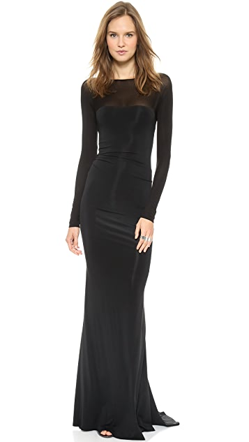 Donna Karan New York Long Sleeve Evening Dress Shopbop