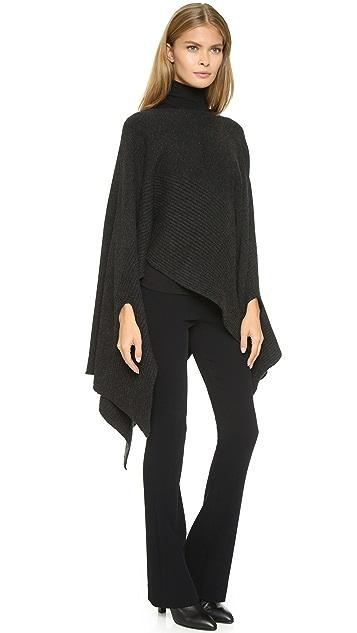 Donna Karan New York Asymmetrical Cashmere Poncho