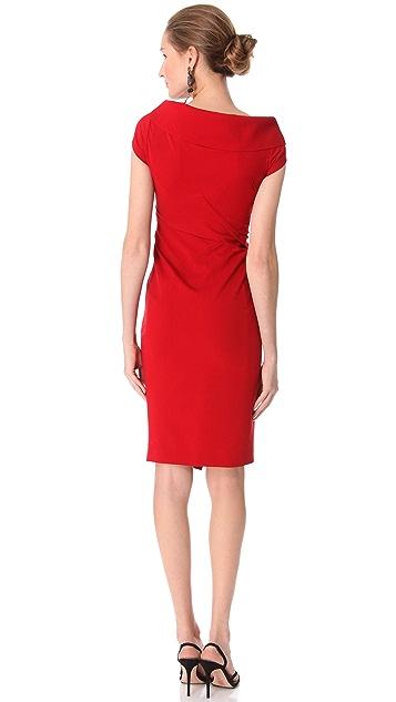 Donna Karan Collection Sculpted Cap Sleeve Dress