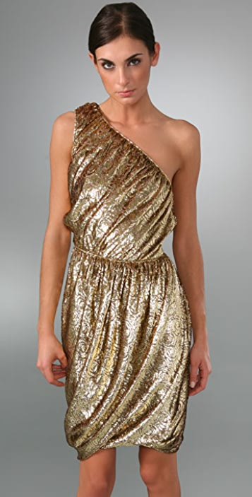 Derek Lam One Shoulder Twist Dress