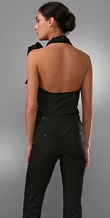 Derek Lam Halter Top with Side Bow