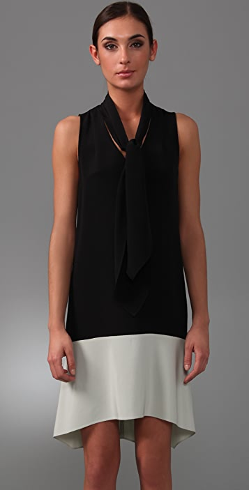 Derek Lam Sleeveless Dress with Neck Tie