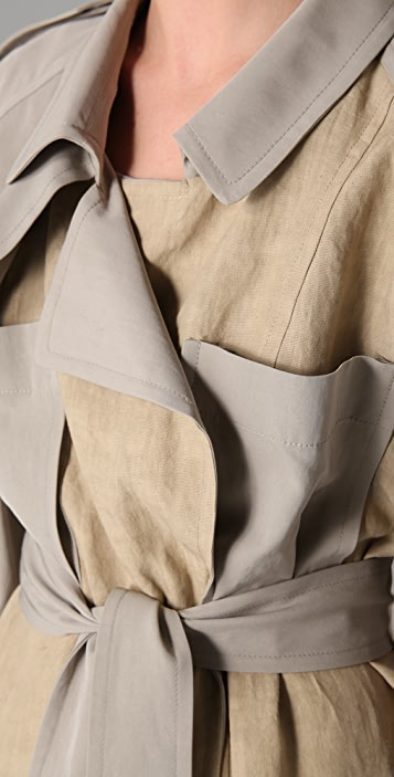 Derek Lam Twill Panel Trench Coat