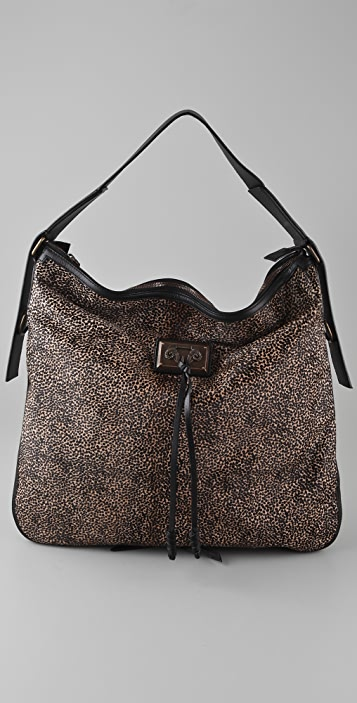 Derek Lam Tatum Print Haircalf Shoulder Bag
